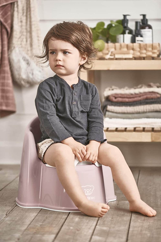 Powder Pink//White BabyBj/örn Potty Chair