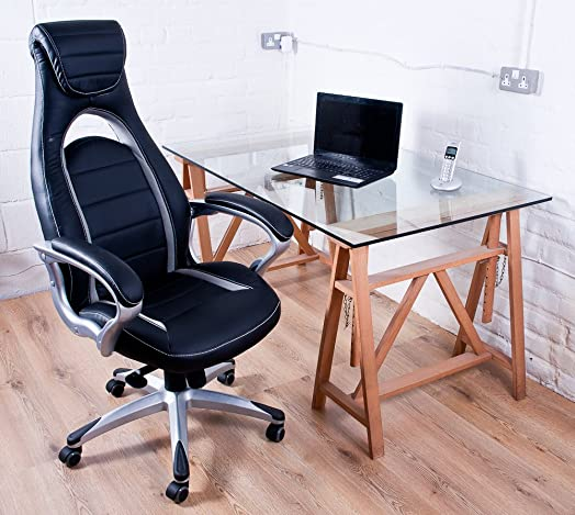 office racer chair. gt 500 leather bucket seat office racer chair