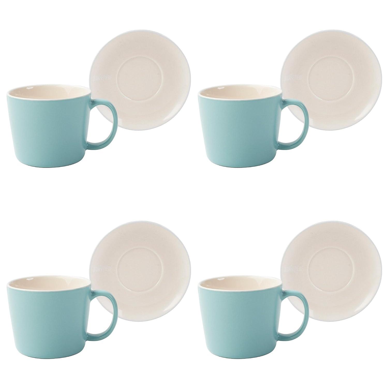 Acquisto La caffettiera Barcelona ceramica caffè Tazze e piattini, Retro Blue, 300 ml Prezzi offerta