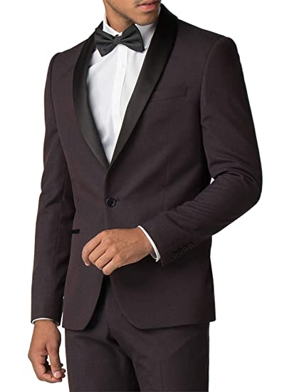save up to 80% elegant shoes discover latest trends Limehaus Men's Burgundy Red Tuxedo Textured Suit Jacket ...