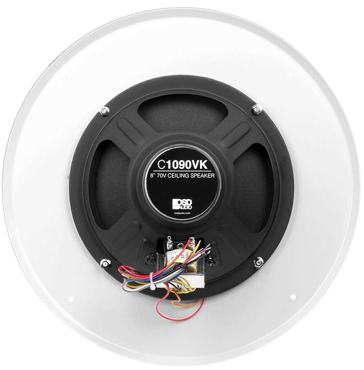 """Amazon.com: OSD C1090 8"""" 70V Commercial In-Ceiling Speaker w/ Built-In  Front Volume Control (Single, White): Home Audio & Theater"""