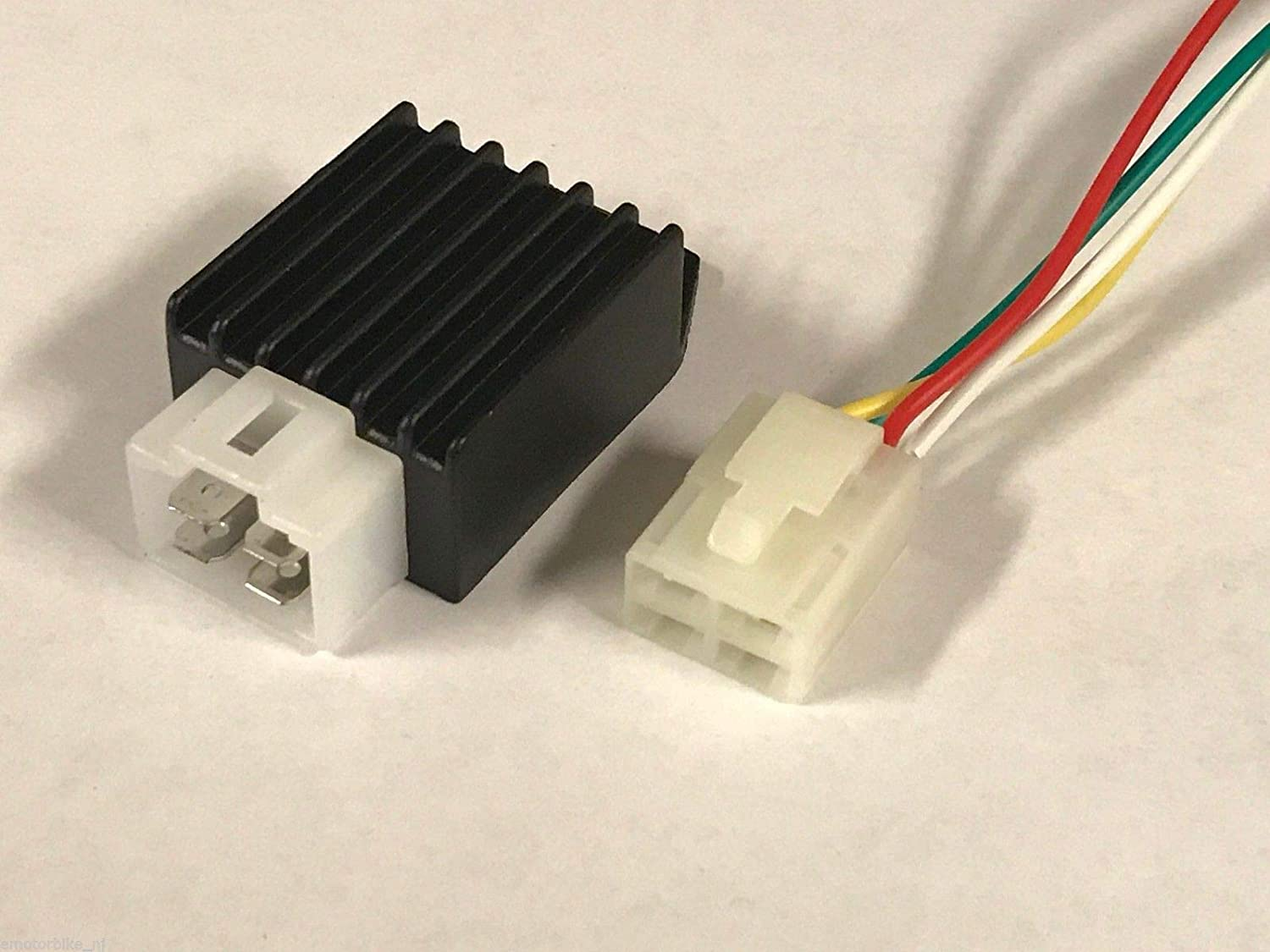 MRS 4 PINS VOLTAGE REGULATOR RECTIFIER with 4 WIRES CONNECTOR PLUG for 50cc 70cc 90cc 110cc 125cc ATV GO-KART DIRT PIT BIKE SCOOTER//SHIPS from USA