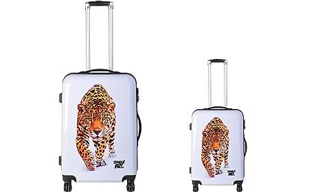 JUNGLE ART Jungle Art Leopard - Juego de maletas adultos unisex Blanco blanco estampado (blanc