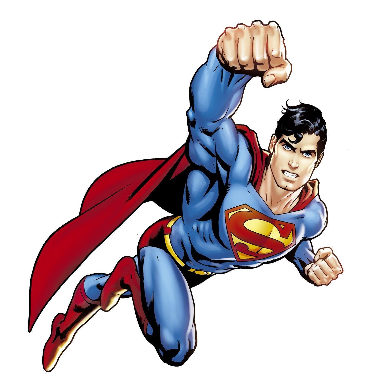 DC Superhero Comic - Justice League- Superman Giant Wall Decal