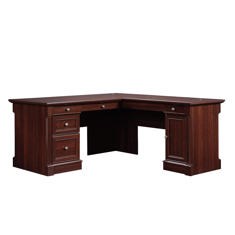 Sauder Palladia L-Shaped Cherry Wood Writing Desk