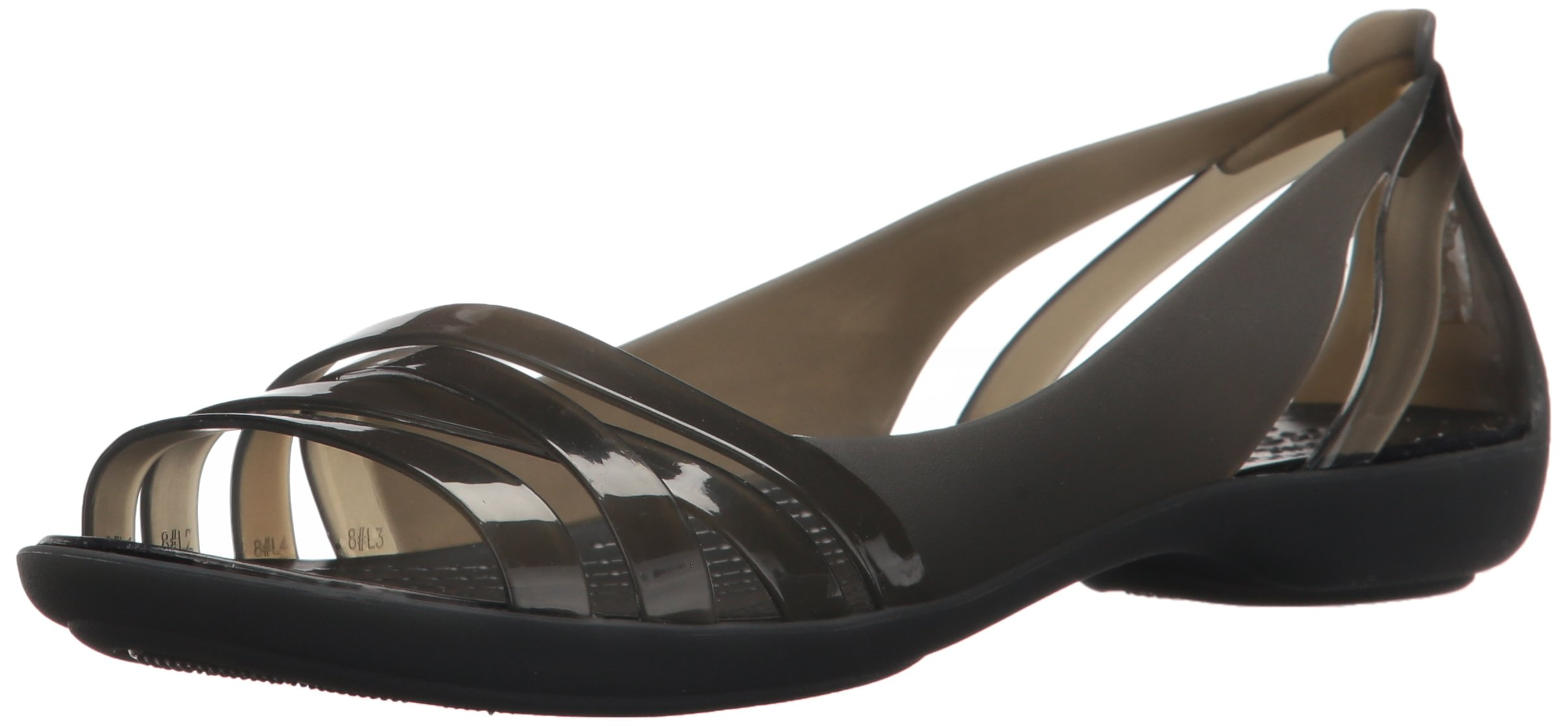 Crocs Women's Isabella Huarache 2 Flat W Sandal Black, 8 M US