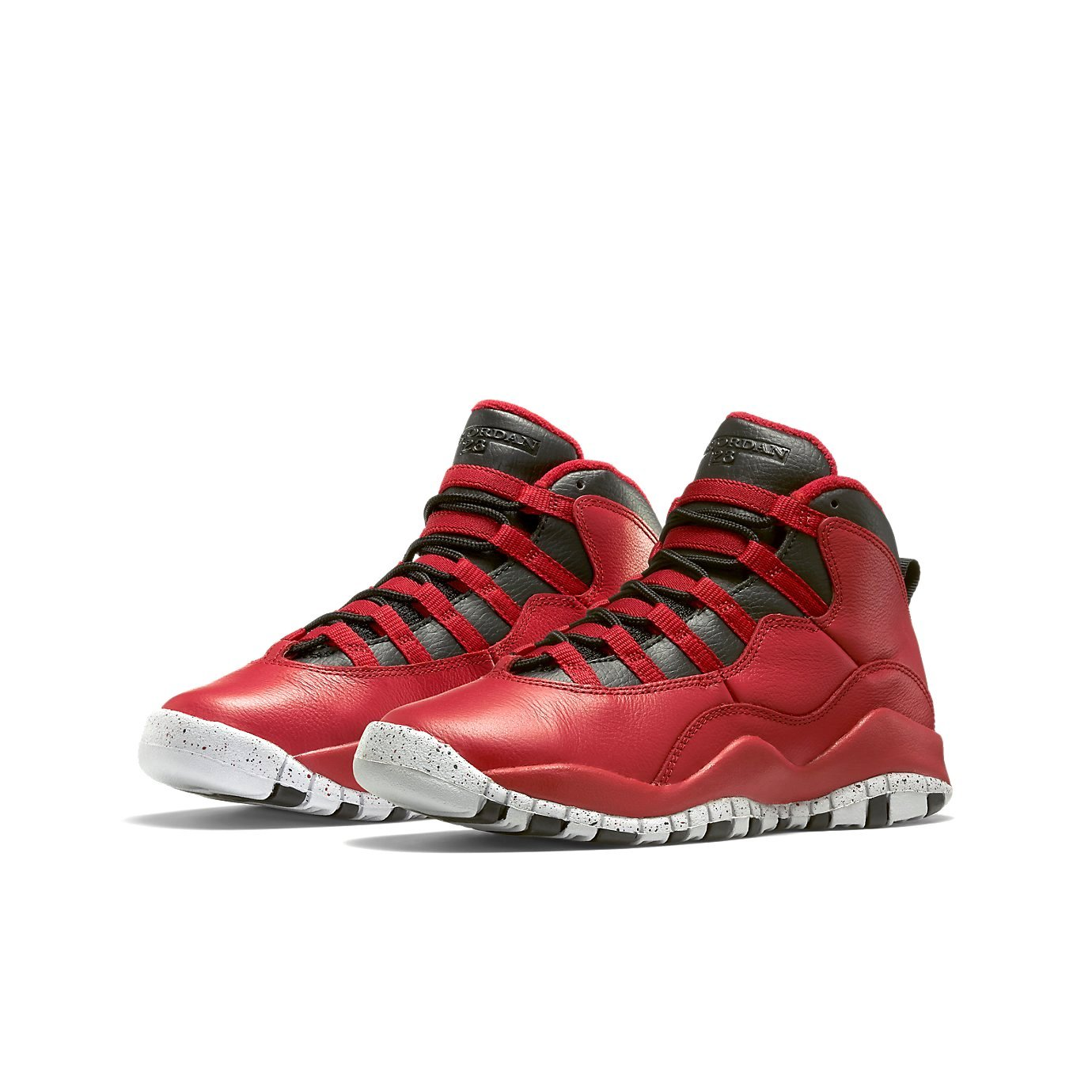 size 40 bc1fe 6d78f Amazon.com   Nike Boys Air Jordan 10 Retro 30th BG Bulls Over Broadway Gym  Red-Black-Wolf Grey Leather Basketball Shoes   Basketball