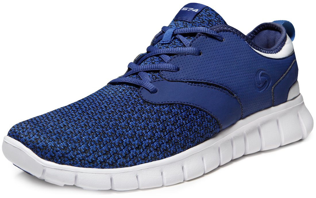 Tesla Men's Knit Pattern Sports Running Shoes L570/X573/X574/E734/X735 (True to Size) B07FK9DNFG Men 12 D(M)|A-TF-X574-BLN