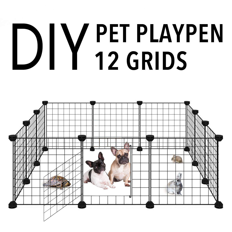 Allisandro Pet Playpen, Portable Metal Wire Yard