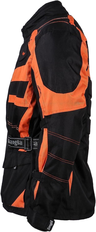 Bangla Kinder Motorradjacke Tourenjacke Textil 1152 Schwarz orange 176