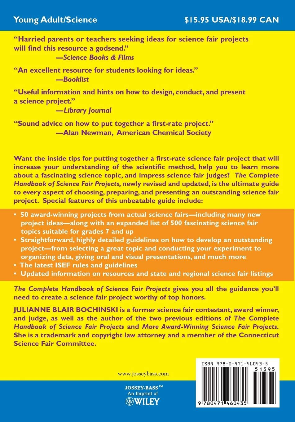 Amazon com: The Complete Handbook of Science Fair Projects
