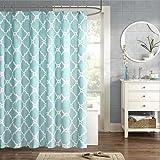 "Madison Park MPE70-082 Essentials Merritt Shower Curtain 72x72"" Aqua,72x72"""