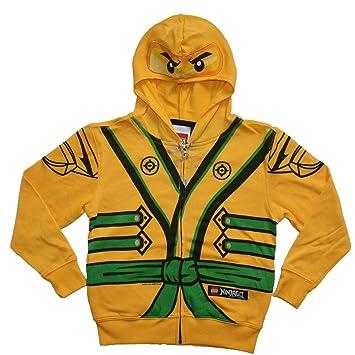 Worksheet. Lego Ninjago Boys Size 56 Gold Ninja Costume Hoodie Amazonca