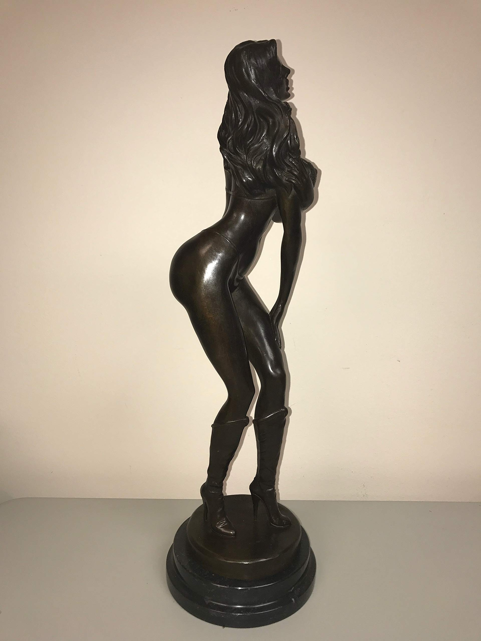 Intercourse Statue - Real Bronze European Naked Statue of Girl - Nipples Poppin Out of Bra - Big Ass and Breasts - Tease - Sex - Sex Decorations for Party