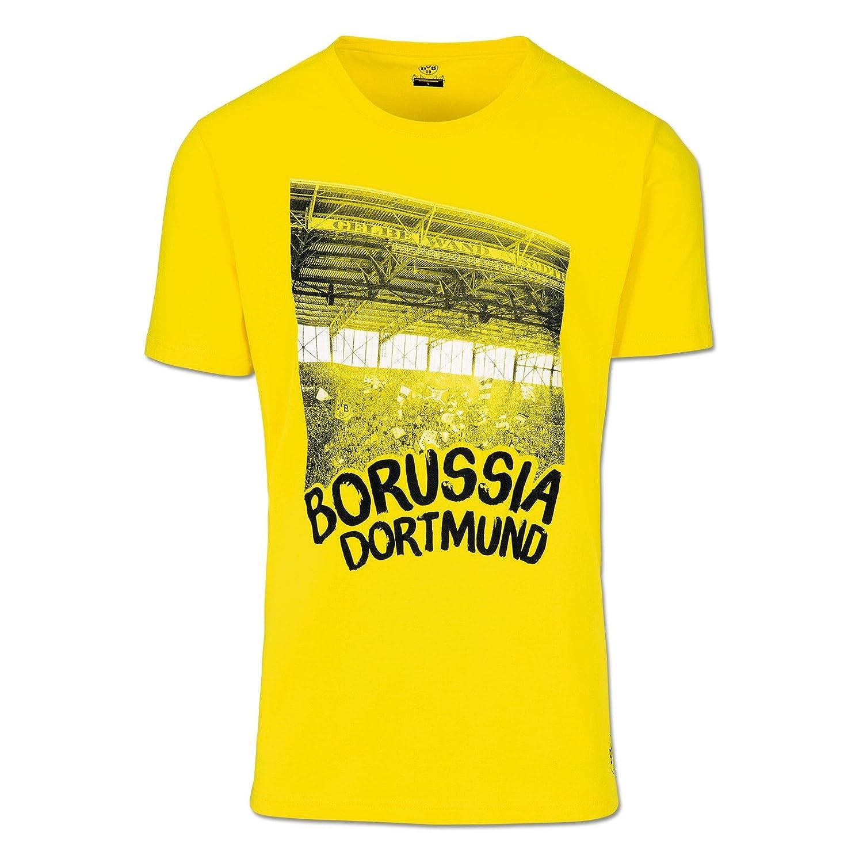 Schwarz S-3XL//104-164 Baumwolle Meisterschaftssterne Borussia Dortmund T-Shirt f/ür Herren und Kinder BVB-Emblem Saison 17//18 schwarz