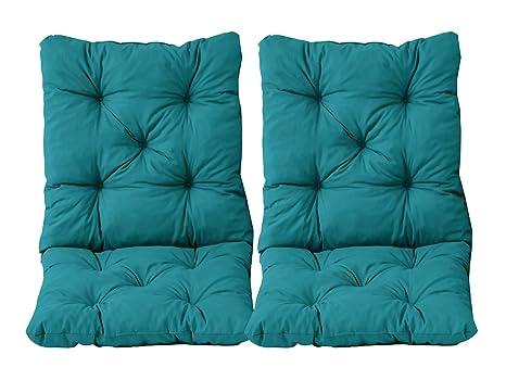 Cuscini Con Schienale Per Sedie Da Esterno : Ambientehome set di cuscini seduta e schienale per sedia hanko