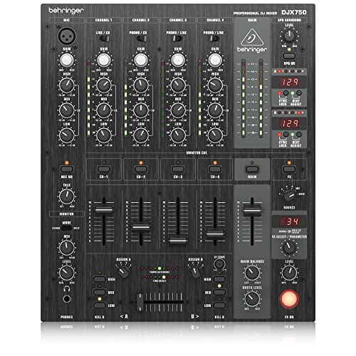 Behringer PRO MIXER DJX750 Table de mixage 5 canaux PFL 3D Surround