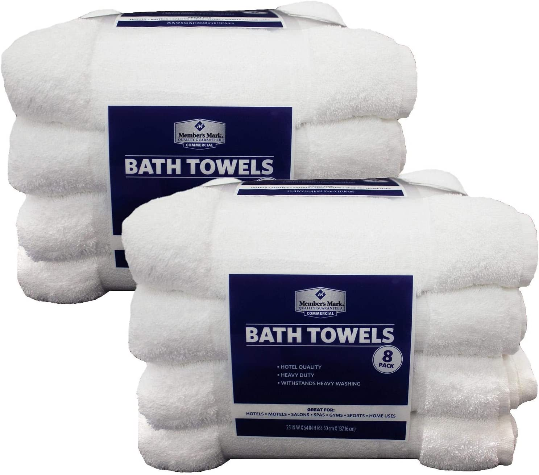 60 new 100/% cotton commercial bath towels utility gym hotel motel 20x40 deal!