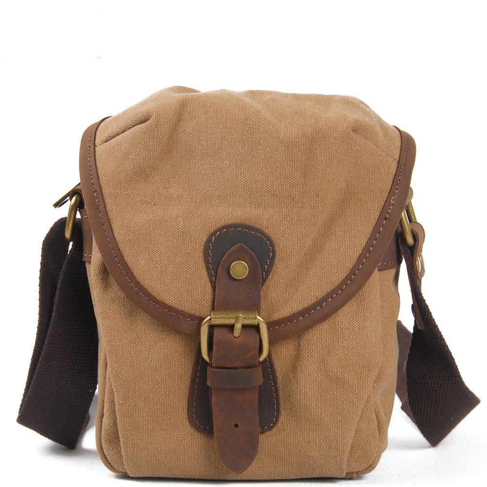 Santimon - Vintage Canvas Mini Crossbody Shoulder Bag Blue Medium