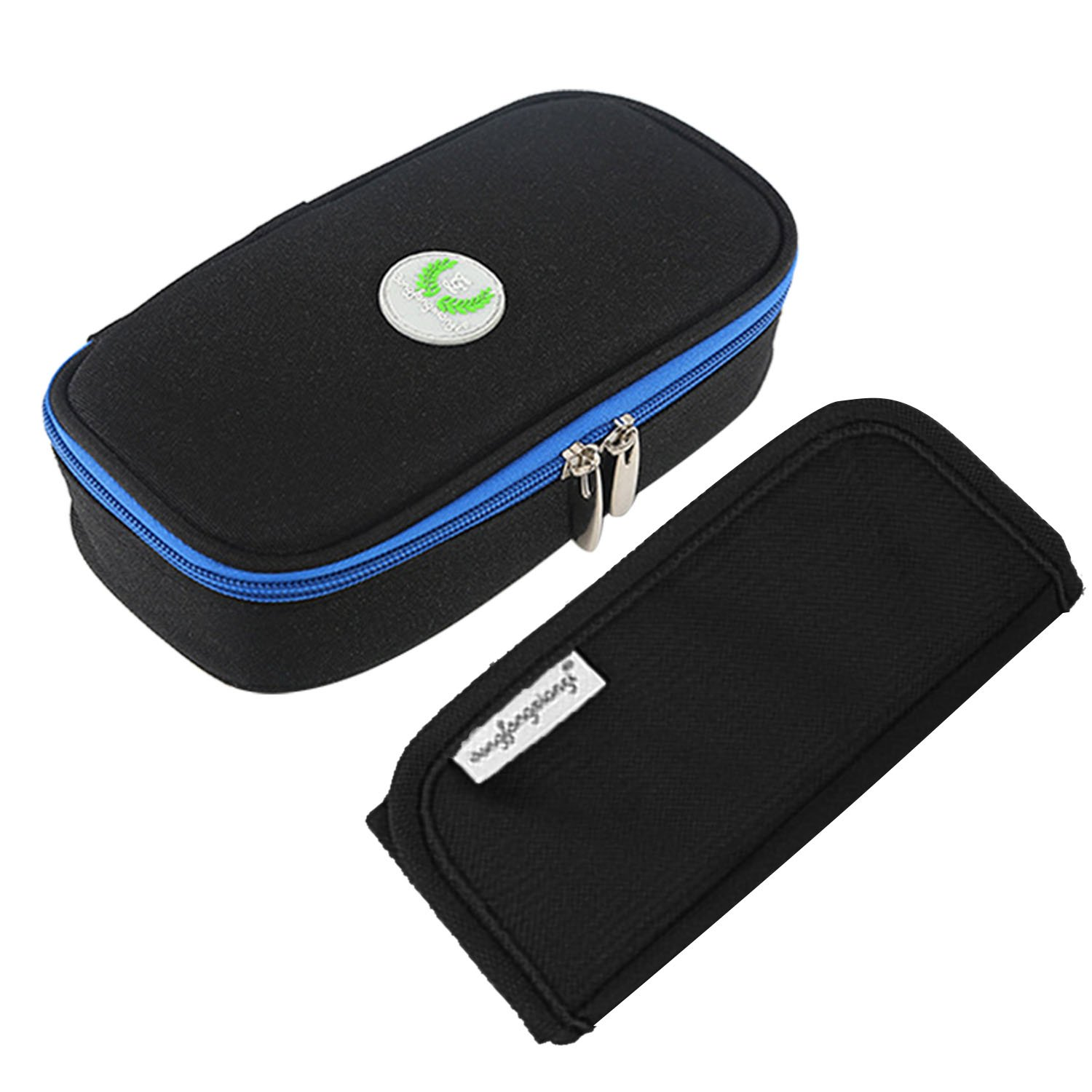 Portable Diabetic Organizer Cooler Bag Medical Travel Camping Case for Insulin Pen Syringes Storage Pouch Black