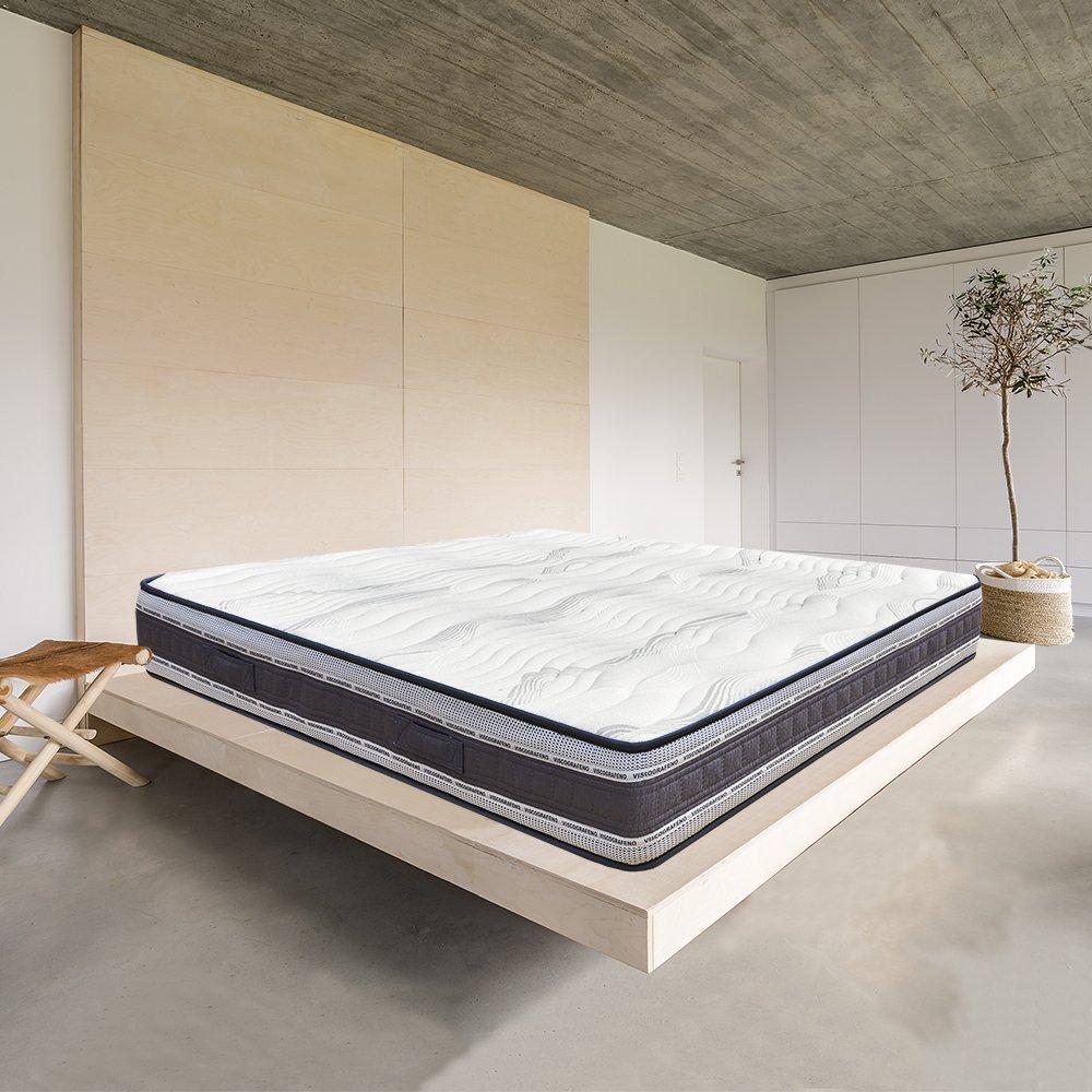 DAGOSTINO HOME - Colchón Viscoelástico Grafeno NEW YORK 105 X 190 X 22cm - Reversible - El Arte del Descanso, Fabricado en España - (Todas las medidas): ...