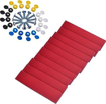 Número De Matrícula Coche Kit de Fijación de Montaje x 20 Tornillos /& Cap Hinge Blanco Amarillo Caps