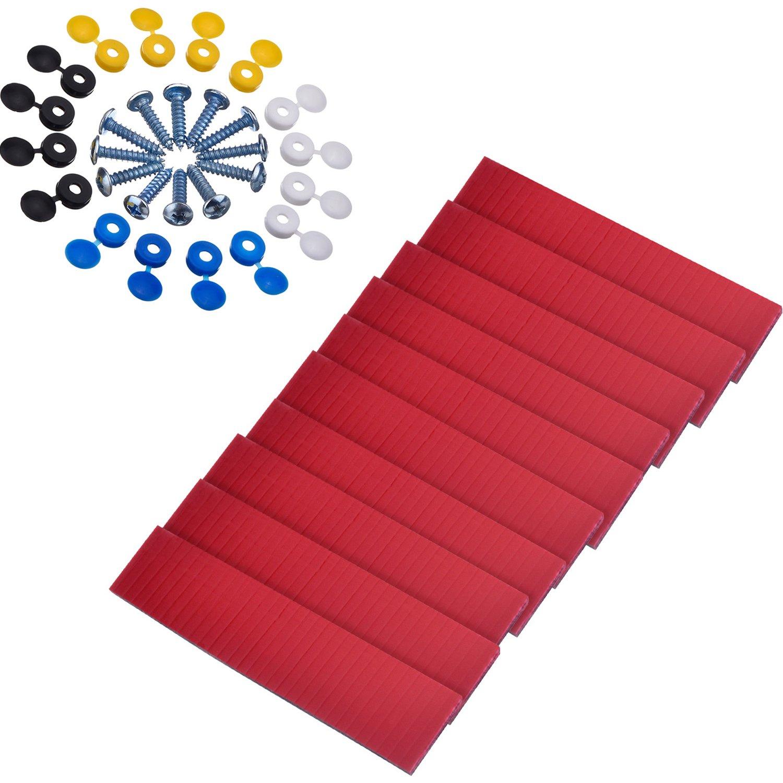 10 Piezas de Cinta Adhesiva de Doble Cara con 16 Sets de Tornillos y Tapas para Placa de Nú mero Placa de Licencia de Coche Kit de Montaje Reparació n Pangda