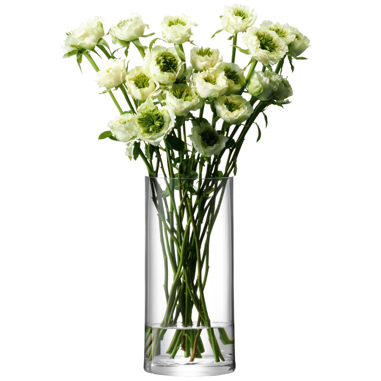 LSA COLUMN フラワーベース(花器) 高さ28 x Ø13cm クリアー  TLA0057 B004FO1BGY