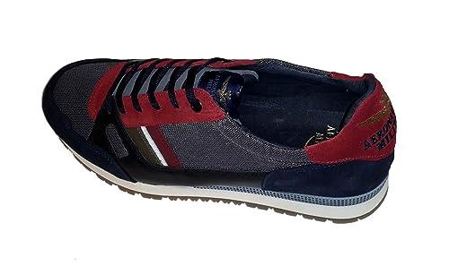 0971d35782 Aeronautica Militare Scarpe Sneakers SC147CT Rosso/Inchiostro/Grigio ...