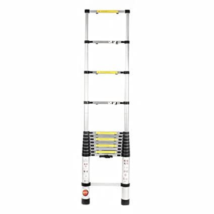 Bathla Advanced Aluminium Alloy Telescopic Ladder - 3.8 m Extended (12 ft.) & 80 cm Closed (2.6 ft.) with 5-Year Warranty