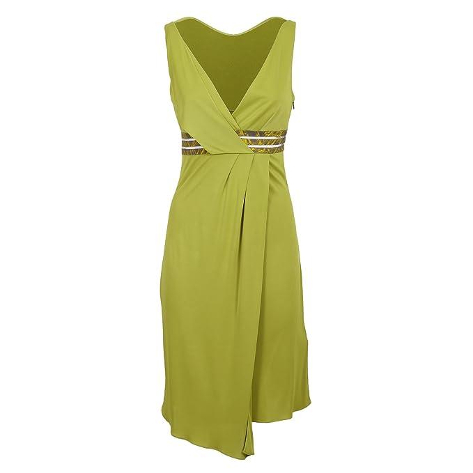 Versace Collection Mujer G603172g2206 Amarillo Viscosa Vestido