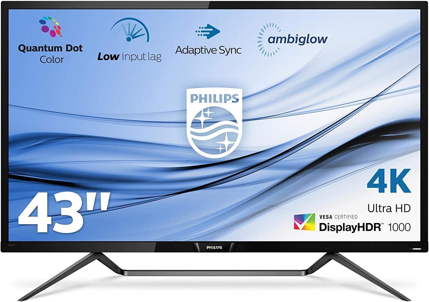 Philips monitor 436M6VBPAB/00 - Monitor 4K de 43