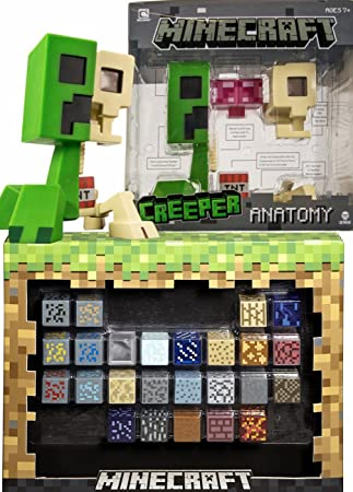 Amazon Minecraft Elements With Giant Sized Creeper Figure