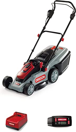 Oregon Cordless LM300 Lawn Mower Kit with R7 6.0 Ah Battery and Rapid Charger