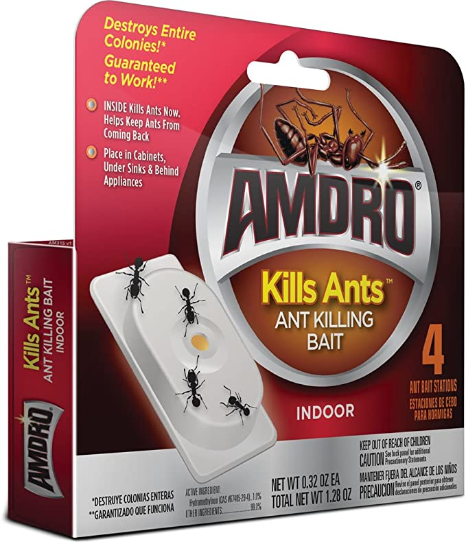 AMDRO Kills Ants Bait Stations, 4 pk