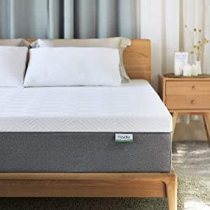 Queen Mattress, Novilla 10 inch Gel Memory Foam Queen Size Mattress for Cool Sleep & Pressure Relief, Medium Firm Bed Mattresses