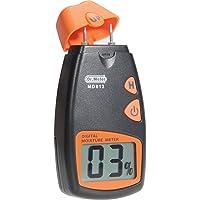 Humidimètre numérique de bois Dr.meter testeur d'humidité du bois portable à 2 broches, écran LCD numérique HD avec 2 broches de rechange et une pile 9V(les deux inclus)Plage 5%-40%,précision: +/- 1%