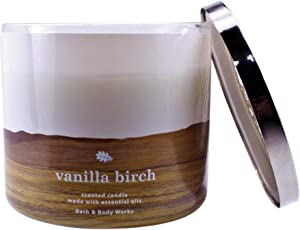Bath and Body Works White Barn Vanilla Birch 3 Wick Candle 14.5 Ounce