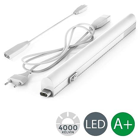 Lampada sottopensile cucina LED, luce bianca naturale 4000K ...