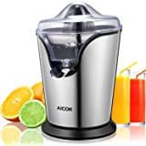 Aicok Citrus Juicer Electric  Powerful orange Juicer, Double Size Cones, Professional Brushed Stainless Steel anti-drip, Quickly Clean and Silent motor, BPA free,100W