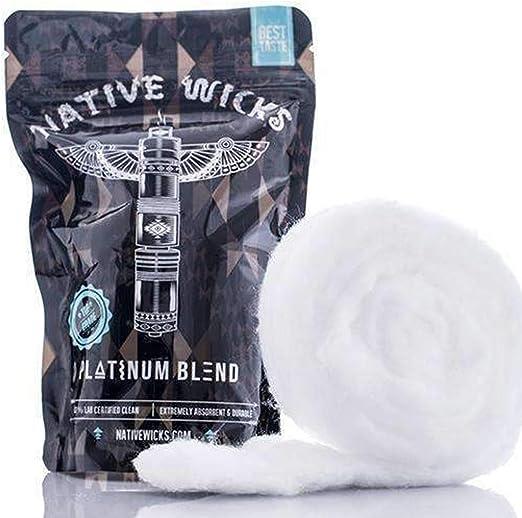 Native Wicks Top Grade Platinum mezcla algodón - 3.5 pies: Amazon.es: Hogar