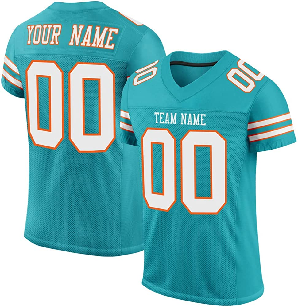 Custom Stitched Football Jerseys Athlete's Uniforms Embroidered Shirts for Men Women Kids,Add Team Name Number