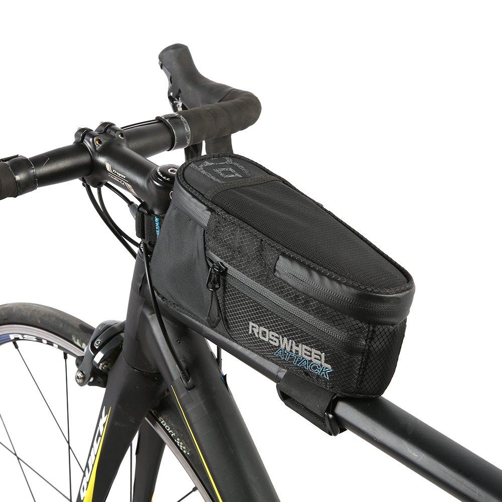 自転車トップチューブバッグ防水ナイロンTpuバイクフロントフレームパニエバッグバッグBicicleta B074PLKVPX B074PLKVPX, 小さな石屋さん:d2773a89 --- ferraridentalclinic.com.lb
