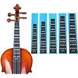 HOT SEAL Violin Finger Guide Sticker Fingerboard Guide Fretboard Marker Label Finger Chart for Practice Beginners (4/4…