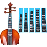 HOT SEAL Violin Finger Guide Sticker Fingerboard Guide Fretboard Marker Label Finger Chart for Practice Beginners (1/2…