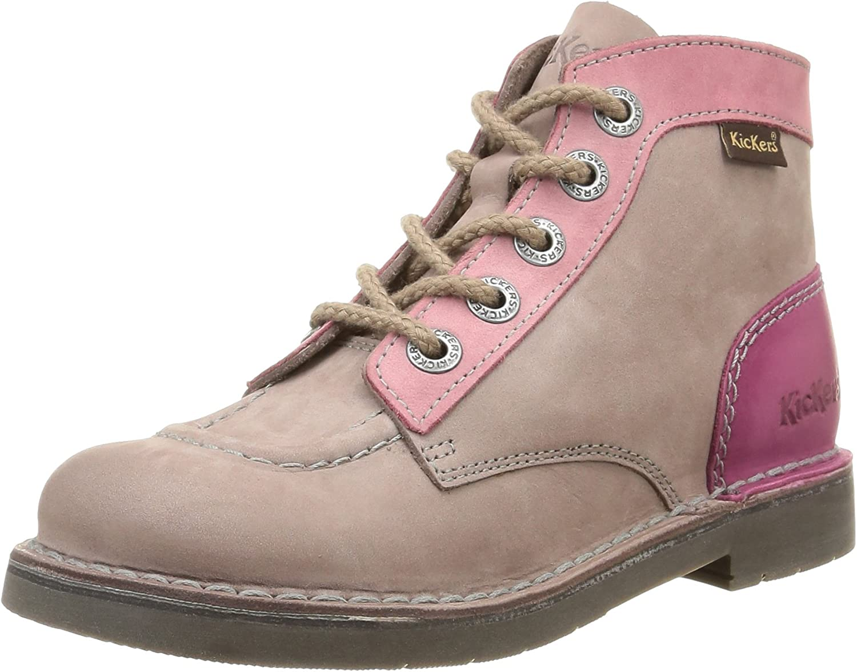 Kickers Col, Chaussures Hautes Classiques Fille
