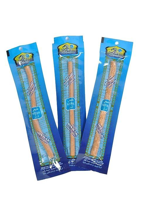 Miswak - Cepillo de dientes manual para siwak de 6 pulgadas, con sabor natural,