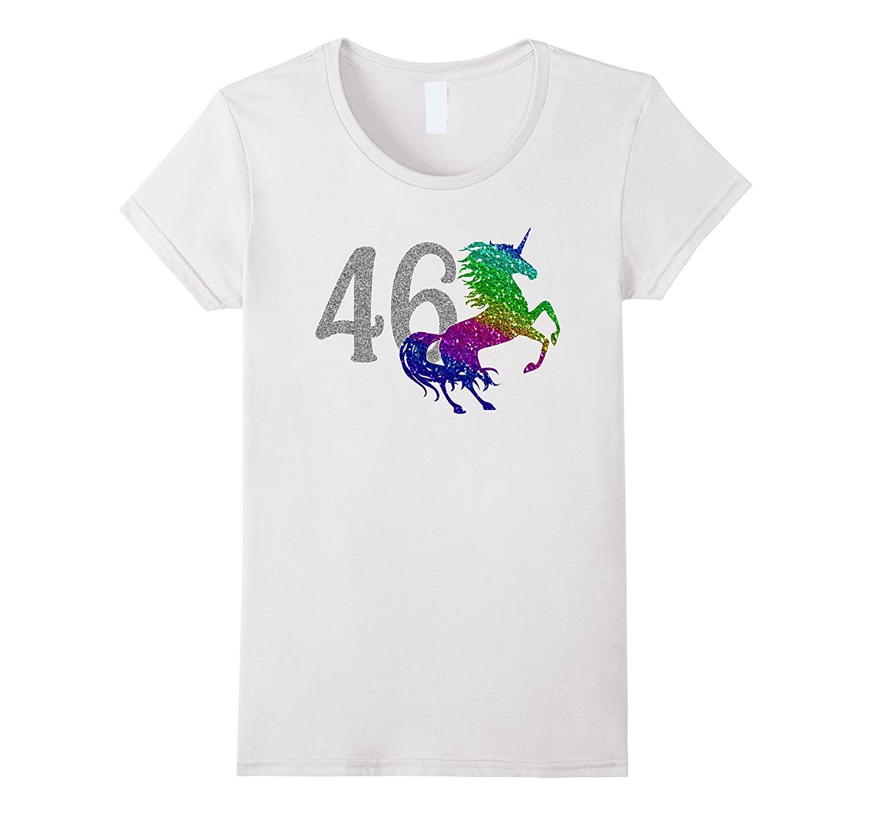 46 Year Old Shirt Unicorn 46th Birthday TShirt