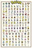 empireposter 745897 Pokemon - Kanto 151 - Anime Spiel Poster, Papier, mehrfarbig, 91,5 x 61 x 0,14 cm