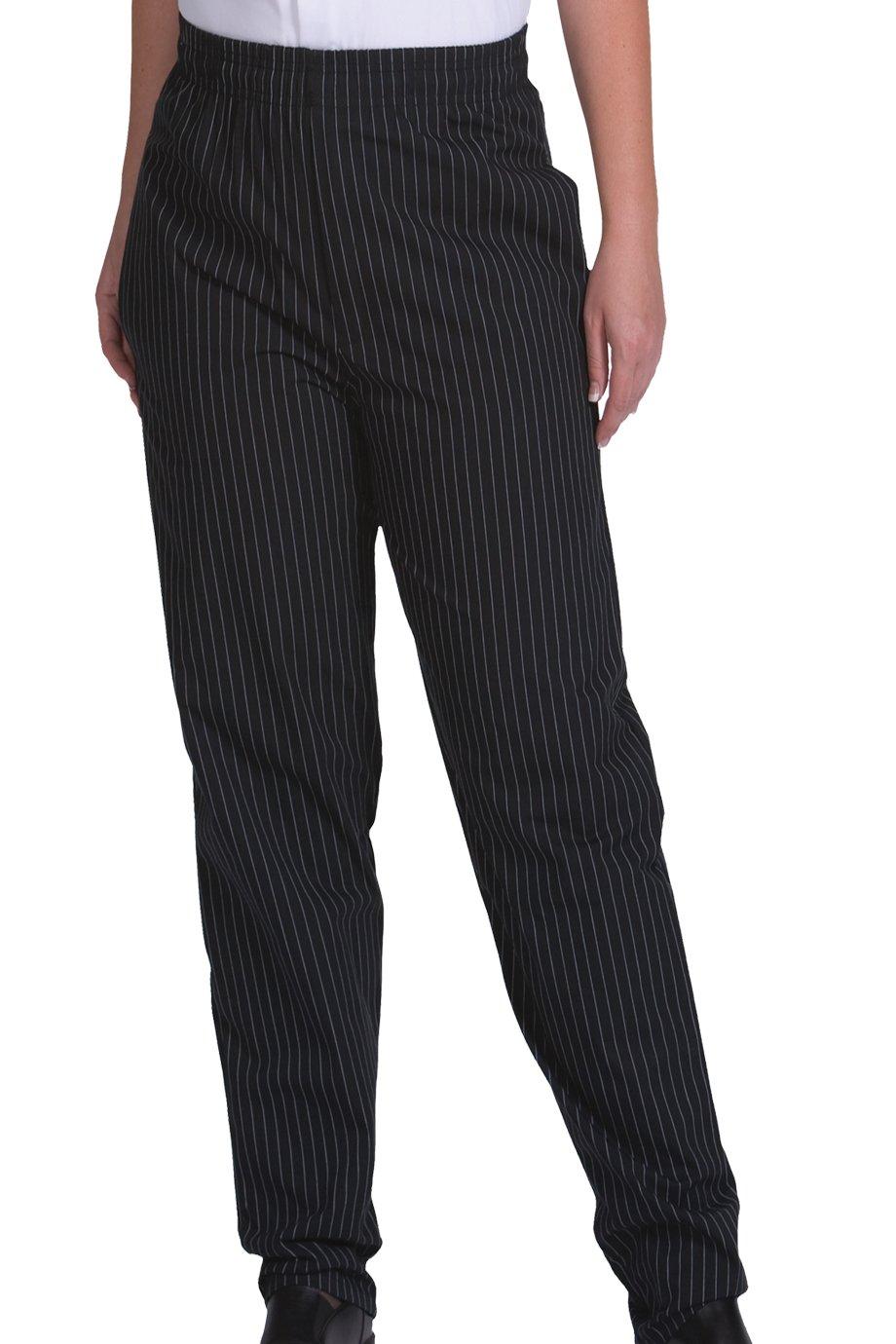 Edwards Men'S 2002 Comfortable Fit Chefs Pants (Blk Stripe Xs)
